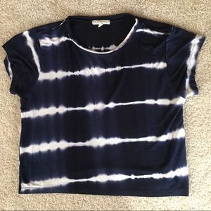 Stretchy Cropped Tie Dye Look T Shirt Top